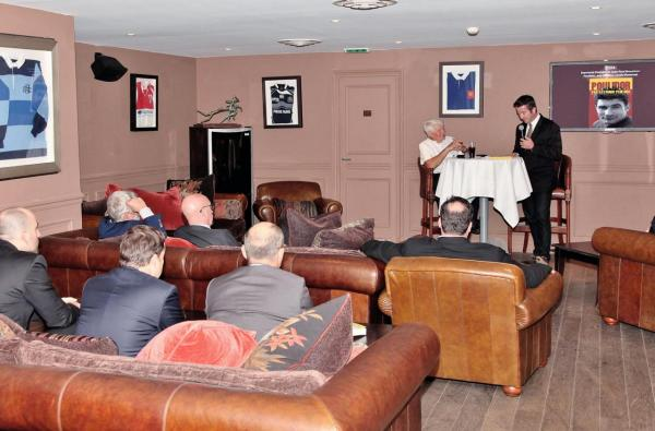 Karl Olive et Raymond Poulidor au Rugby Club 01