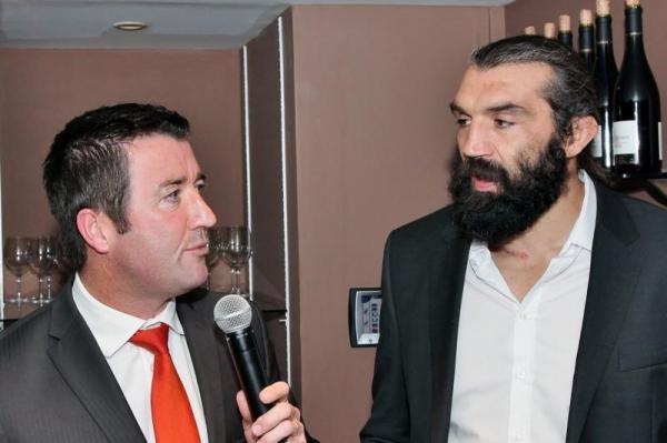 Karl Olive et Sébastien Chabal au Rugby Club